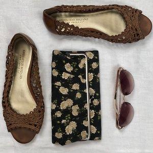 Christian Siriano Shoes - Brown Flats